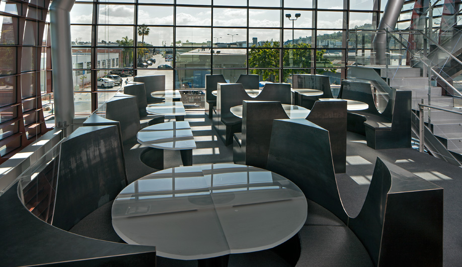 Vespertine restaurant's dining room is filled with natural light.