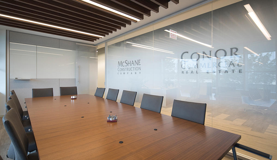 Forms+Surfaces glass: Partition walls with ViviGraphix Graphica glass and custom graphics make a corporate statement and lend executive level privacy.