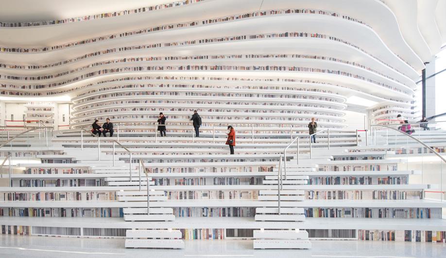 Tianjin Binhai Library, designed by MVRDV's Winy Maas