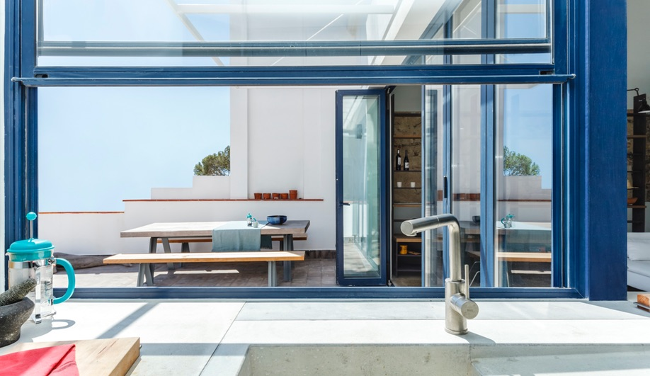 Es Garbi, Nook Architects' Catalonian beach house restoration, uses a fan system and windows to regulate temperature.