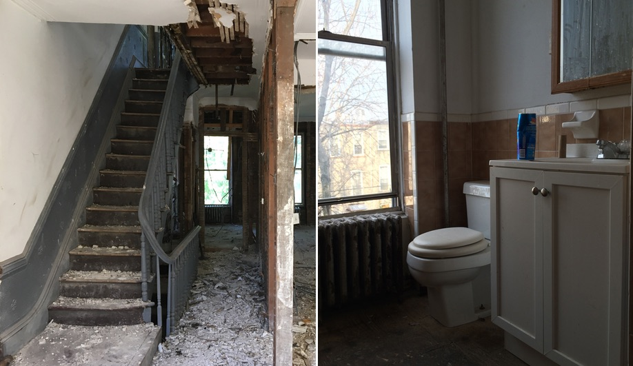 L/and/A used switchback stairs to renovate this Bedford-Stuyvesant row house.
