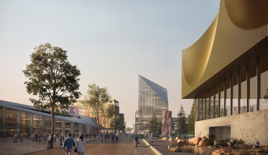 Mixed uses, including cultural, residential and school buildings, will be incorporated into Oslo Airport City.