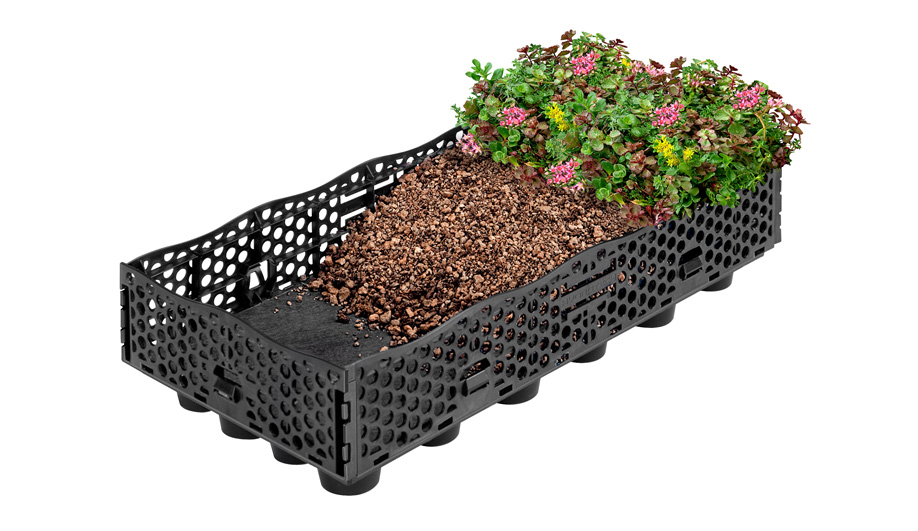 InstaGreen GT-4 Tray Modular Green Roof by Hydrotech