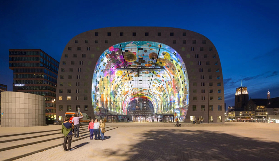 A sample of AZ Awards 2018 Guest of Honour Winy Maas' work: Markthal Rotterdam