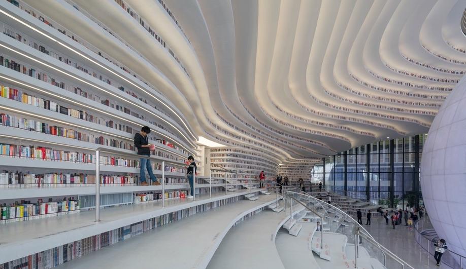 A sample of AZ Awards 2018 Guest of Honour Winy Maas' work: Tianjin Binhai Library