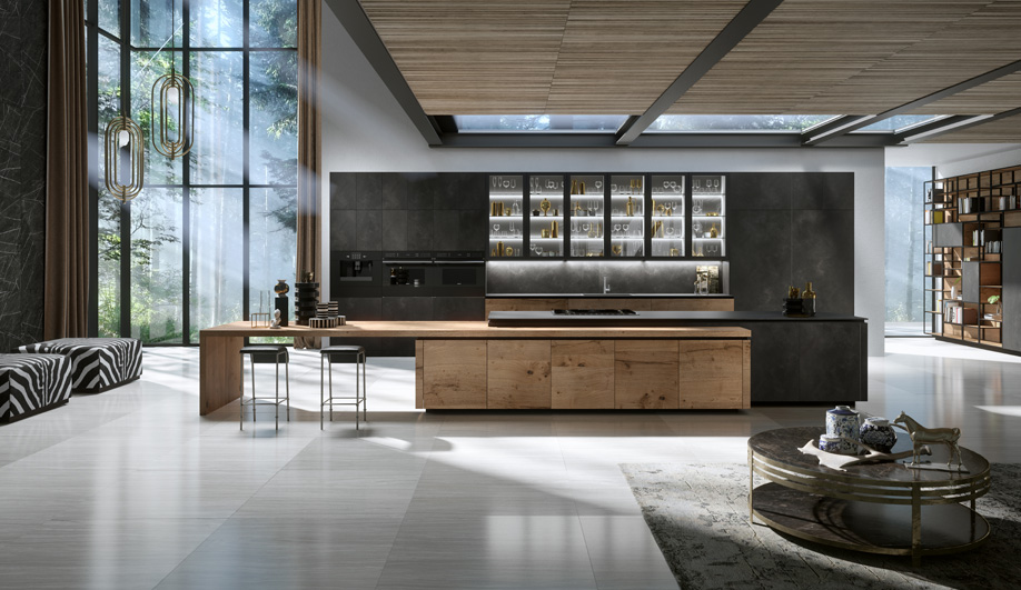 H01 Elegante Bespoke Kitchen by Snaidero USA