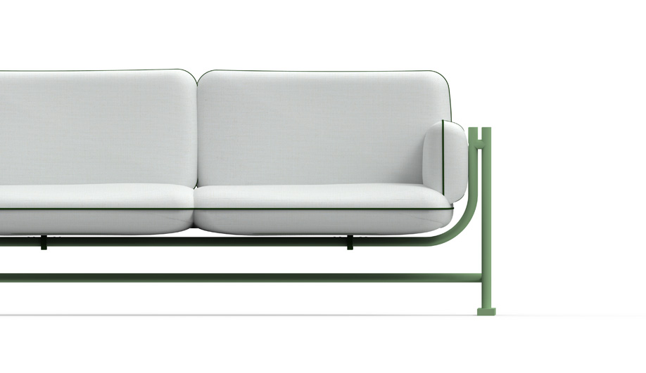 Green furniture at IMM Cologne: Swing by Richard Lampert