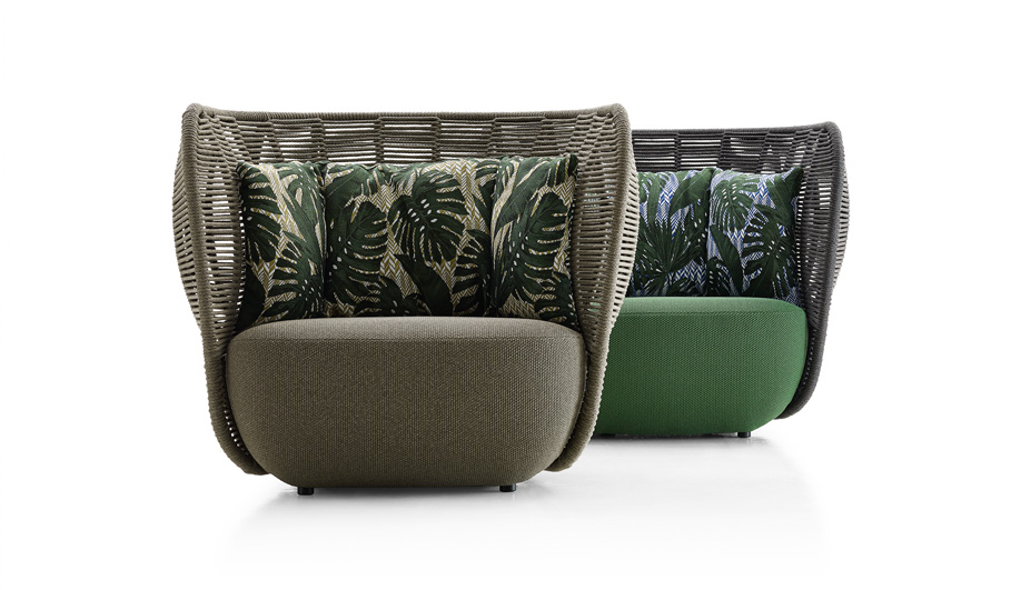Green furniture at IMM Cologne: Bay by Doshi Levien