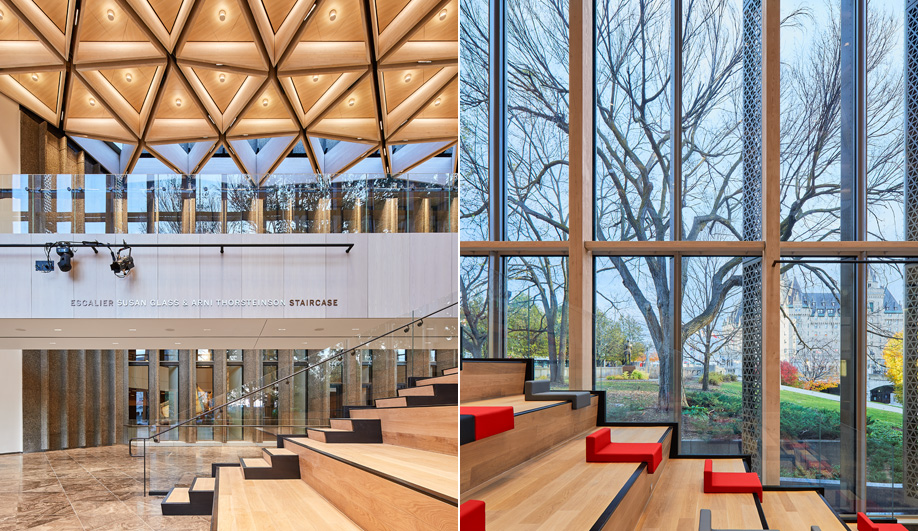 National Arts Centre renewal: Diamond Schmitt Architects used Douglas fir gulam for the coffers of this Ottawa brutalist icon.