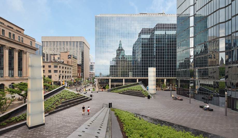 Bank of Canada renewal: Perkins+Will's Andrew Frontini created a plaza that connects to a subterranean museum.
