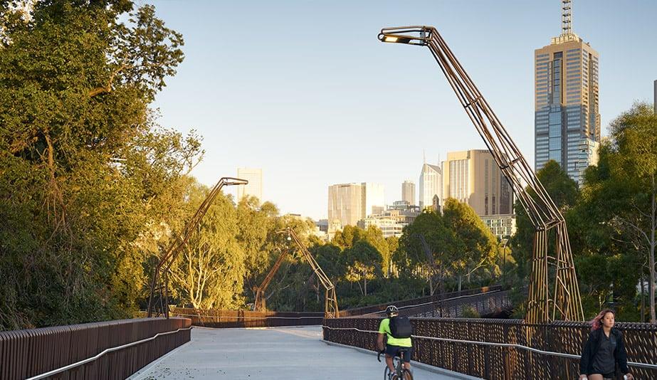 2018 AZ Awards of Merit: Landscape Architecture: Tanderrum Pedestrian Bridge