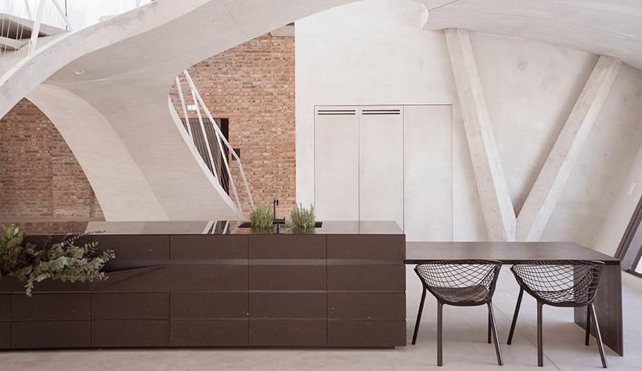 Loft Panzerhalle is a 2018 AZ Awards Winner for Residential Interiors.