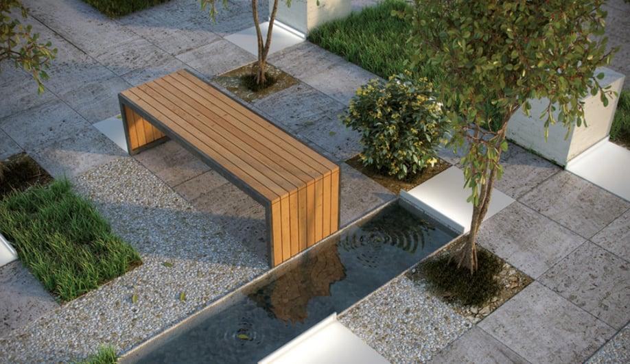 Minimalist outdoor products: Underline by Buzzi & Buzzi