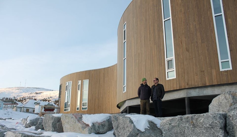 Illusuak Cultural Centre, in Nain, Newfoundland and Labrador, by Todd Saunders Architects