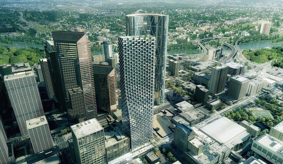 Telus Sky in Calgary, by Bjarke Ingels Group and Dialog