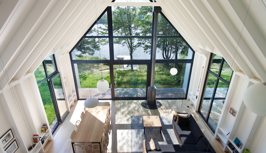 Contemporary Canadian Cottages Window On The Lake Yh2 Architecture