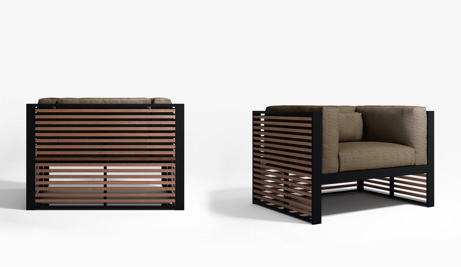 Minimalist outdoor products: DNA Teak Collection by Gandia Blasco