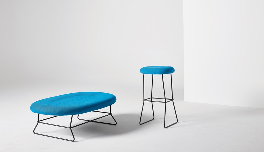 Nienkamper furniture launches at NeoCon 2018: Caravite Bench and Stool, by Busk + Herzog