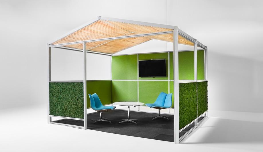 Nienkamper furniture launches at NeoCon 2018: The Gazebo Meeting Pod