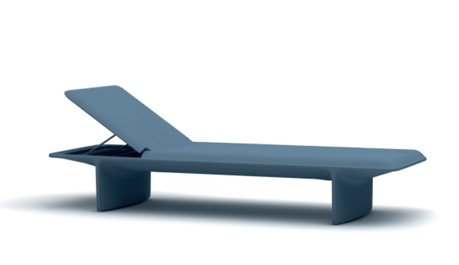 Minimalist outdoor products: Ponente Sun Lounger by Slide Design