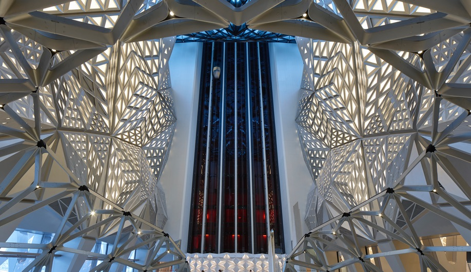 The interiors at Zaha Hadid Architects' Morpheus Hotel in Macau.
