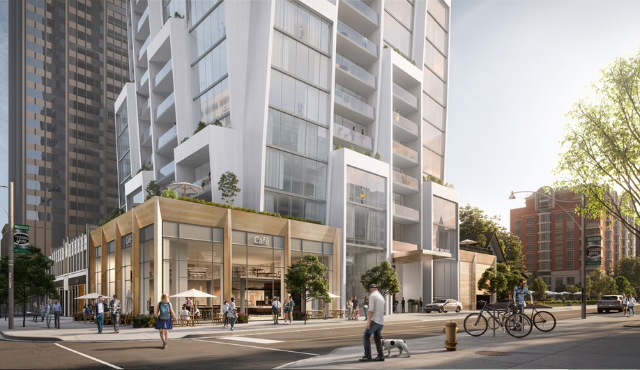 The base of Jeanne Gang's proposed design for One Delisle in Toronto