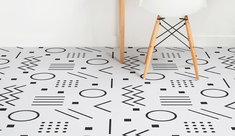 Geometric Vinyl Flooring by Atrafloor