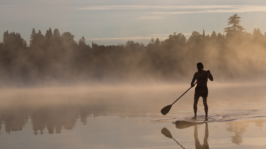 Beau Lake paddleboard