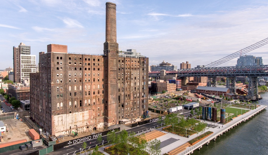 Domino Park in Brooklyn rethinks a former Domino Sugar Factory
