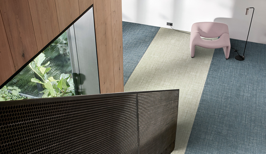 Native Fabric Vinyl Tiles by Interface