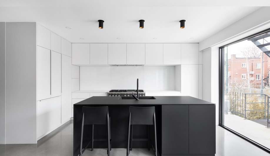 The kitchen in Bessborough House, an NDG reno by _naturehumaine