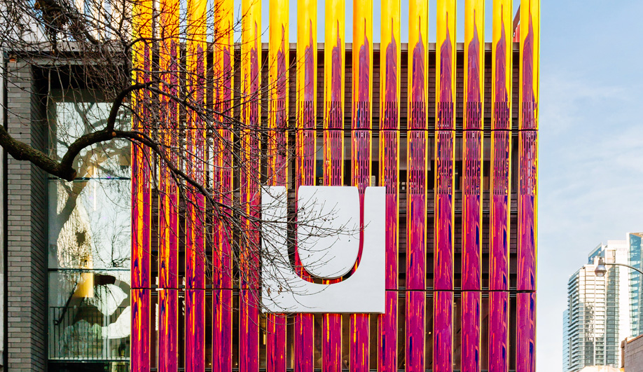 The Umbra facade get a dichroic twist.
