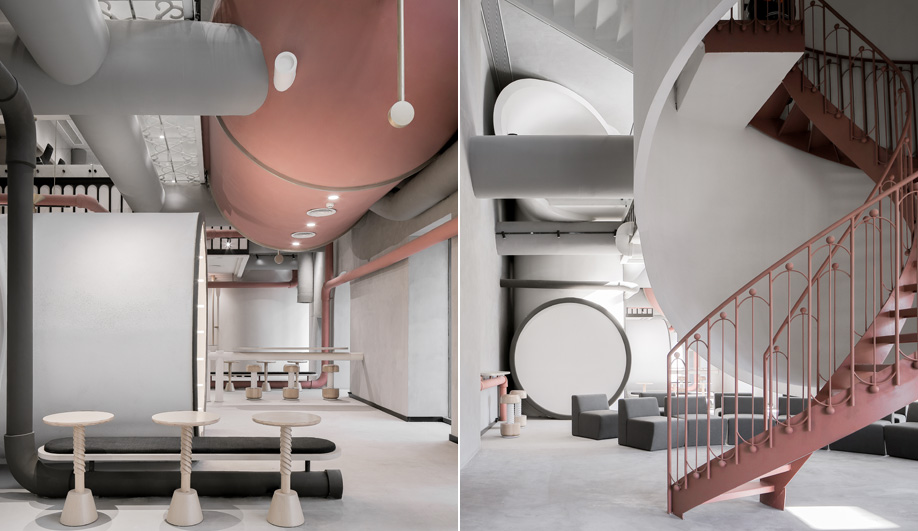 X+Living Designs a Steam Era-Inspired Communal Hub for Ideas Lab