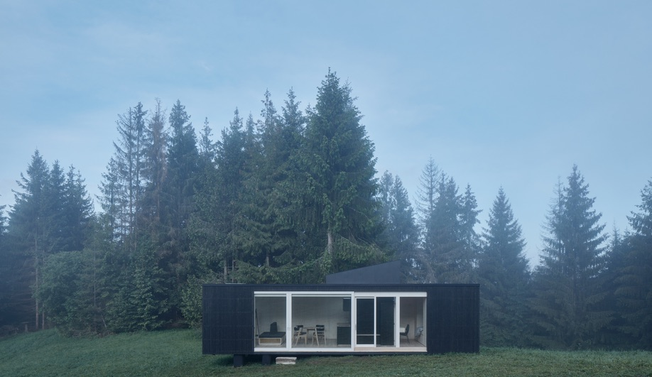 The windows in Ark Shelter's Into the Wild Cabin