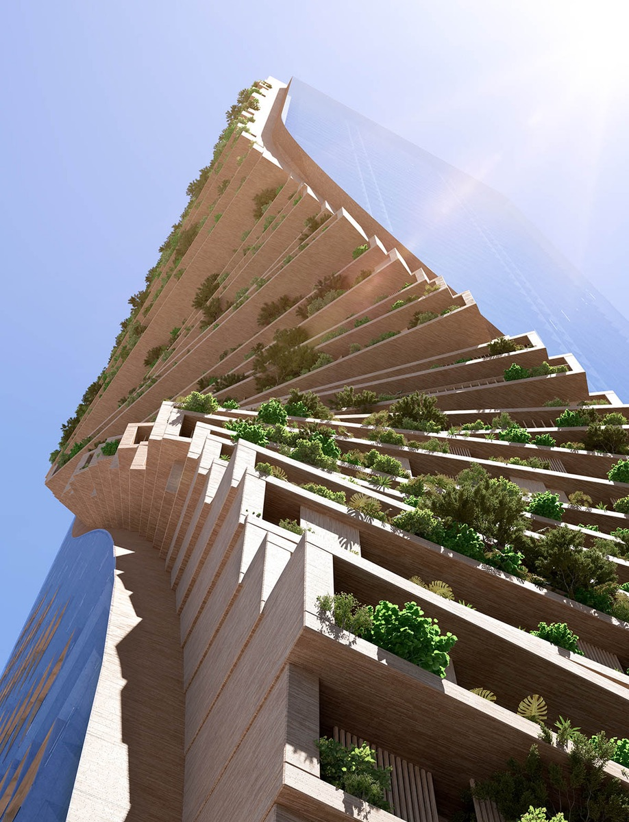Green towers and vertical forests: Green Spine in Melbourne