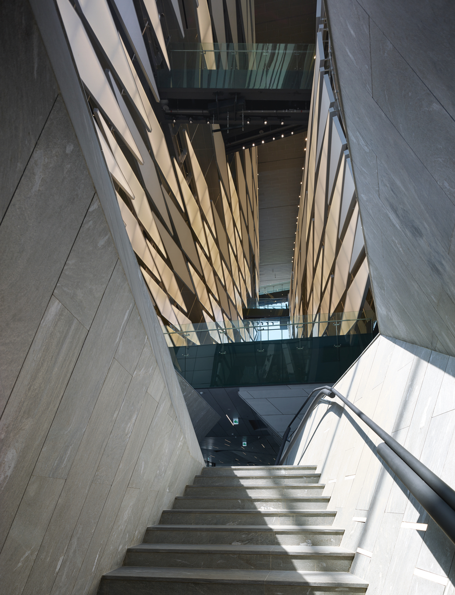 The Grand Stairs at the One & Only Tower, Kolon's research and development facility in Seoul's Magok district