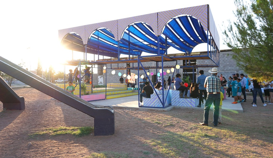The Colourful Arachi Pavilion Brings Shade to a Public Park in Mexico