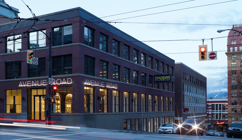 Avenue Road Vancouver is in a former printing factory