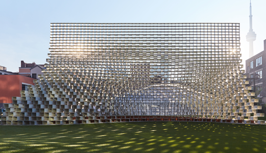 BIG's Magnificent Modular Unzipped Pavilion Opens in Toronto