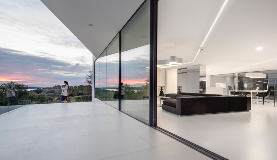 The terrace from By the Way House, designed by KWK Promes