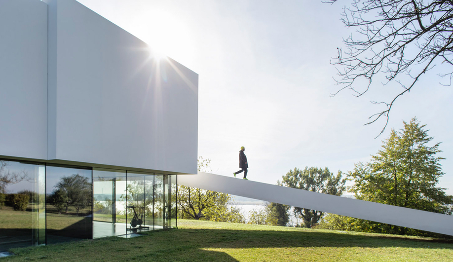 The ramp leading to By the Way House, designed by KWK Promes