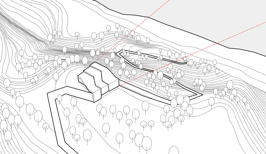 The site map for By the Way House, designed by KWK Promes
