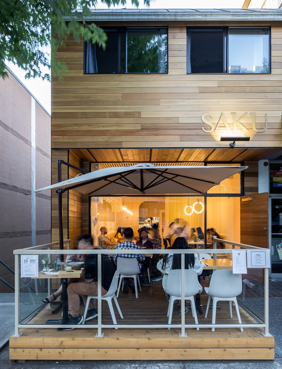 Emily Danylchuk designed Vancouver tonkatsu restaurant Saku, which features a cedar-wrapped exterior.