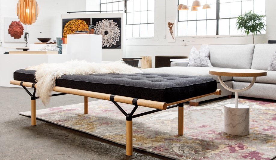 A glimpse at Address Assembly, founded by Vancouver designer Kate Duncan: Will Morrison's Split Collar daybed