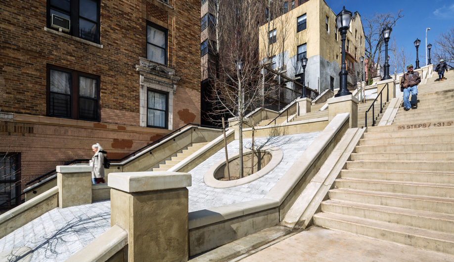 WXY's redesign of the West 215th Step Street in Manhattan