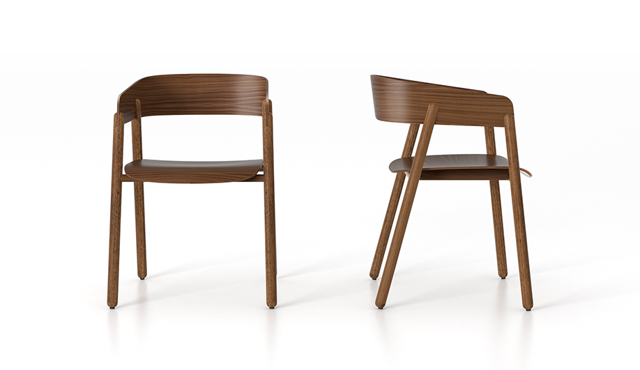 Teknion's Punt Collection: Mava Wood Guest Chair