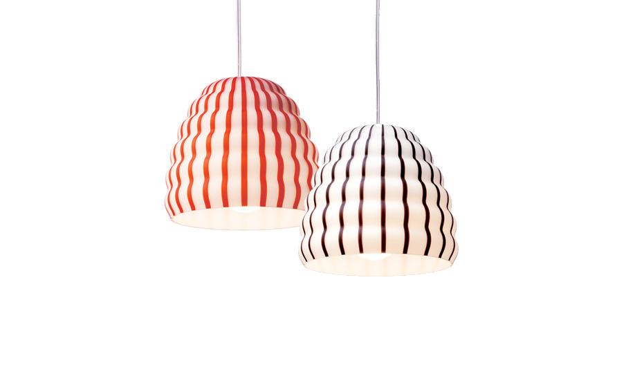 Candy striped design: Filigrana Lamps