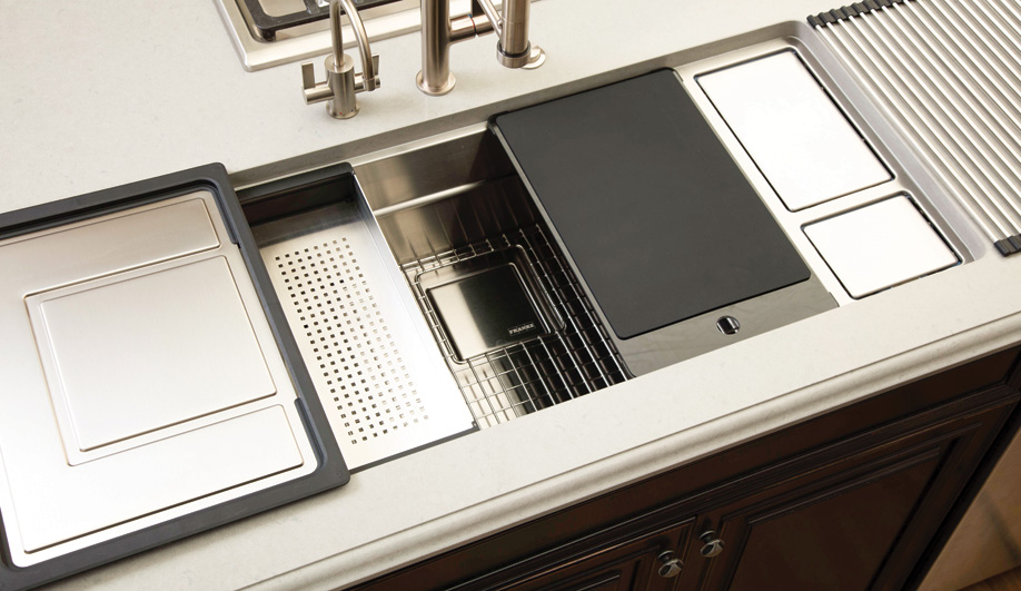 Contemporary Kitchen Sinks: Chef Centre XL by Franke