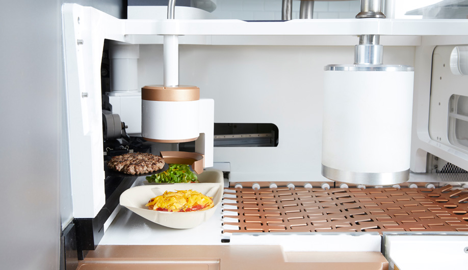 San Francisco's Creator's burger-making robot is made from Corian, ash and copper.