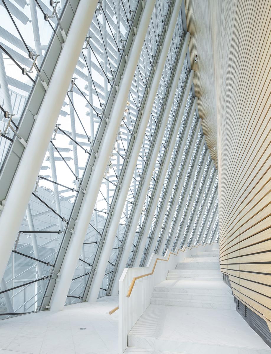 Fuzhou Strait Culture and Art Centre's patterned ceiling